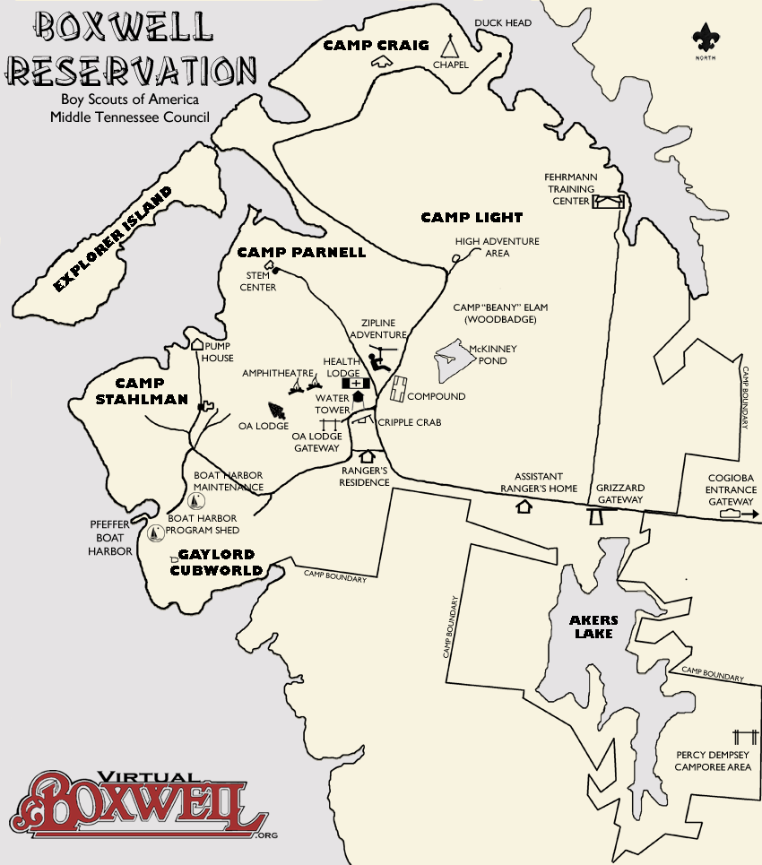 Boxwell Reservation Map