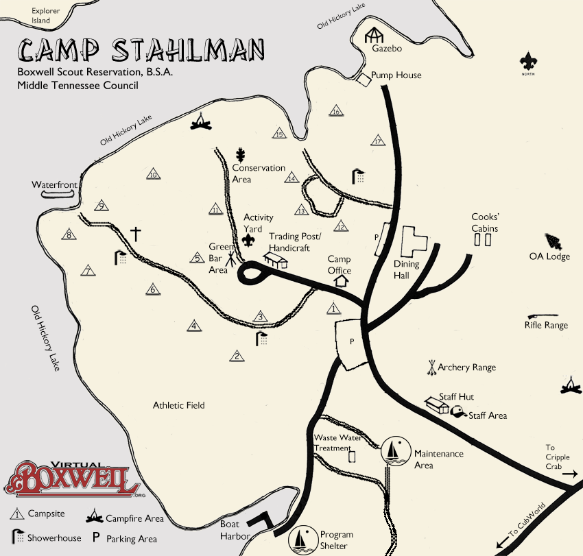 Camp Stahlman Map