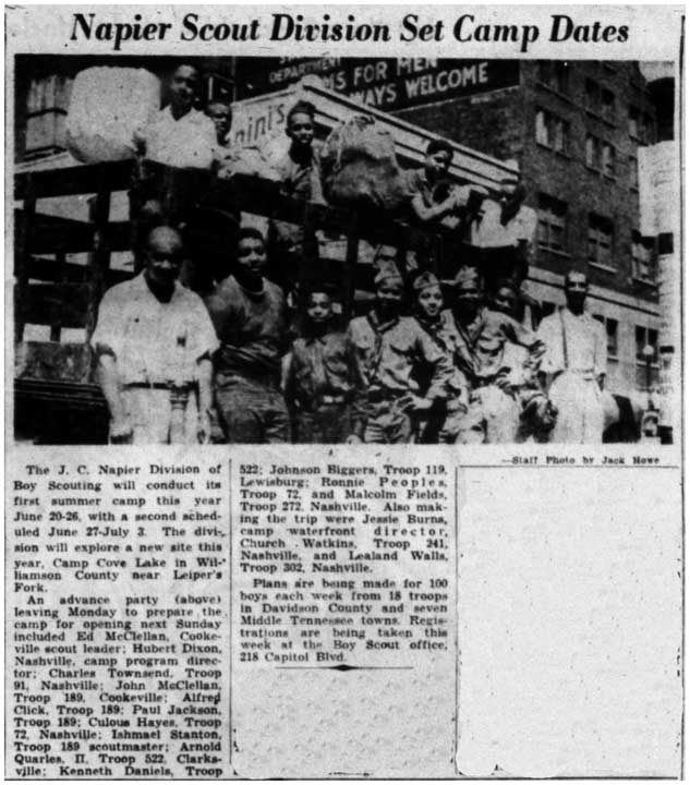 _Nashville Banner_ article on the segregated Boy Scout camp