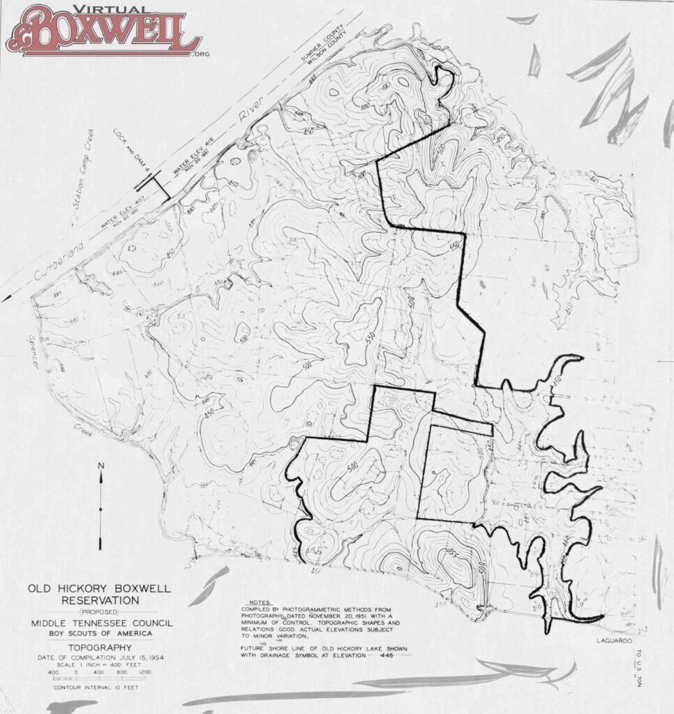 1954 Topographic Map