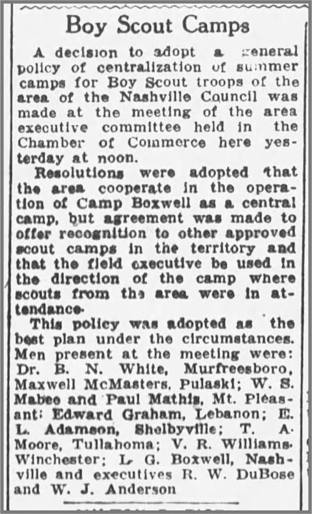 Boy Scout Camps, 1932