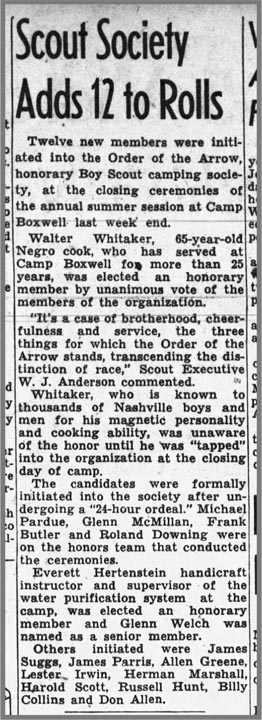 Walter Whitaker OA