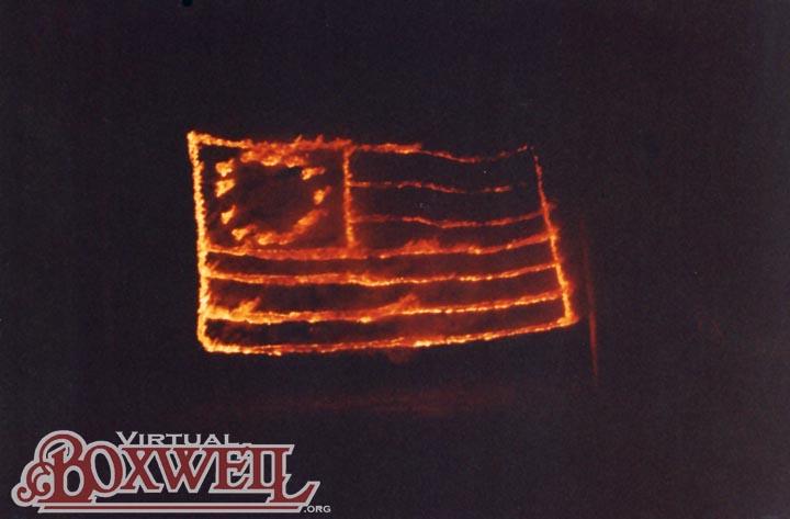 Burning Flag July Fourth Campfire closing, 1990