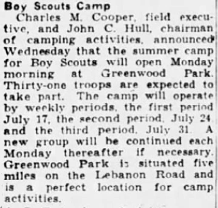 Greenwood camp