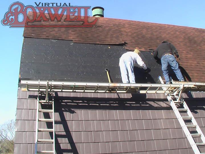 Lodge roof repair