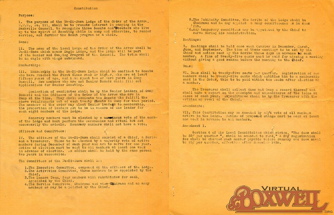 OA constitution
