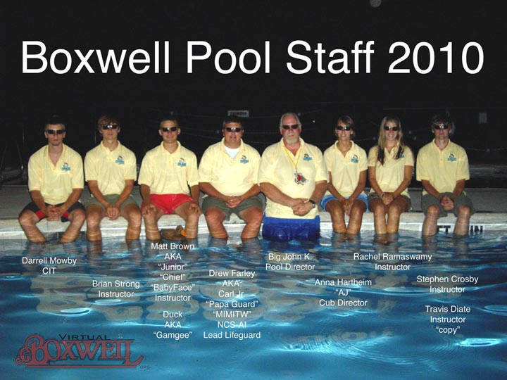 Reservation Pool Staff, 2010